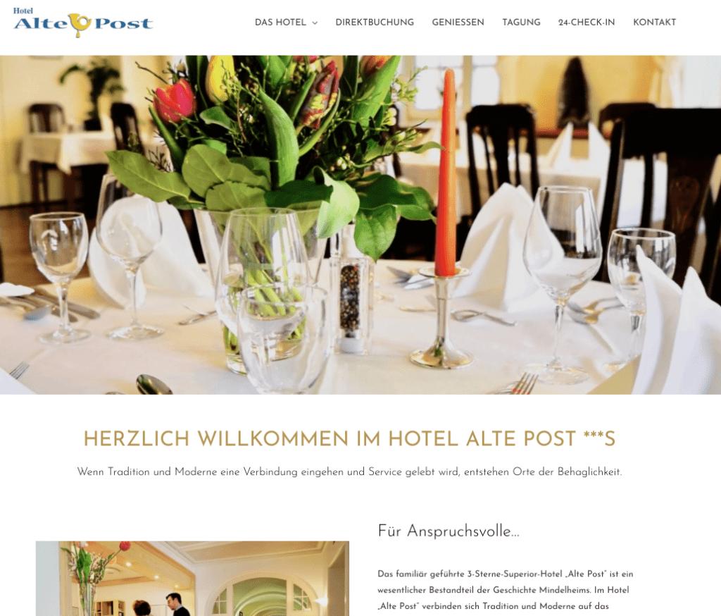 """3-Sterne-Superior-Hotel """"Alte Post"""" in Mindelheim"""